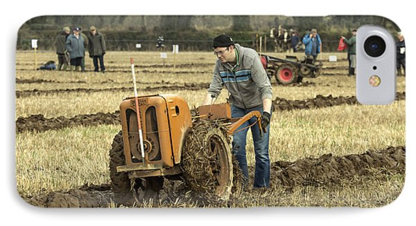 Hand Held Tractor Plough IPhone Case by Roy McPeak