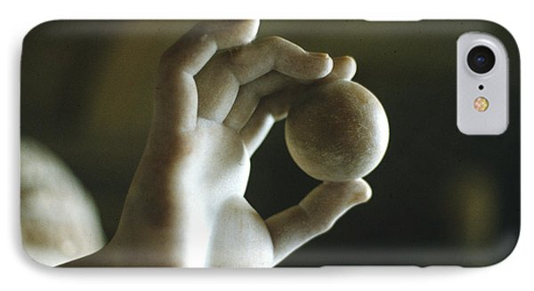Hand Holding Ball Phone Case by Carl Purcell