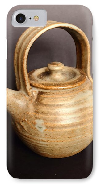 Hand Thrown Teapot IPhone Case by Jeff Townsend