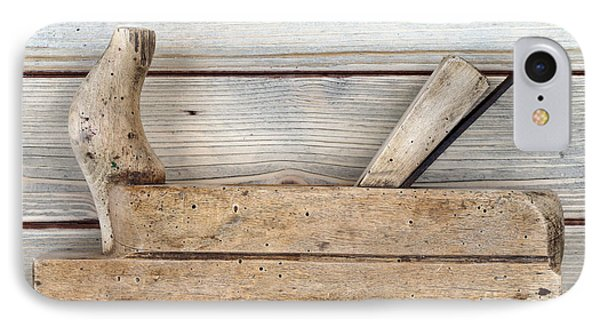 Hand Tool - Old Wood Planer IPhone Case by Michal Boubin