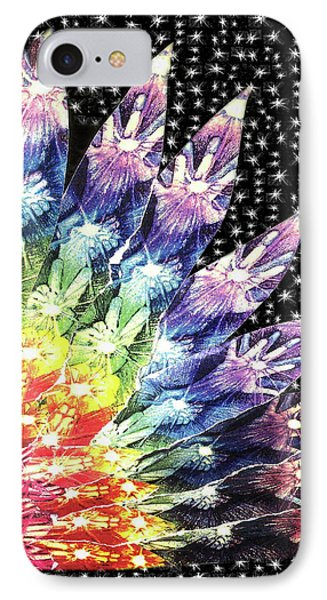 IPhone Case featuring the mixed media Hand Totem Wing by Kym Nicolas