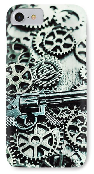 Handguns And Gears IPhone Case by Jorgo Photography - Wall Art Gallery