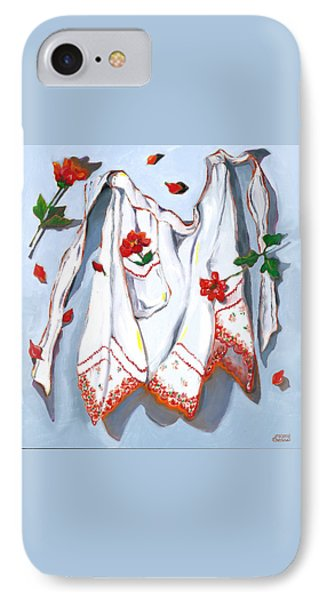 IPhone Case featuring the painting Handkerchief Apron by Susan Thomas