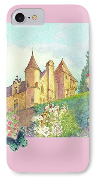 IPhone Case featuring the painting Handpainted Romantic Chateau Summer Garden by Judith Cheng