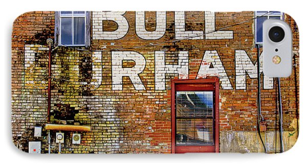 IPhone Case featuring the photograph Handpainted Sign On Brick Wall by David and Carol Kelly
