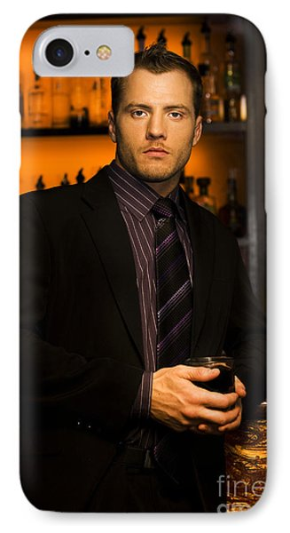 Handsome Young Man At Nightclub Bar IPhone Case by Jorgo Photography - Wall Art Gallery