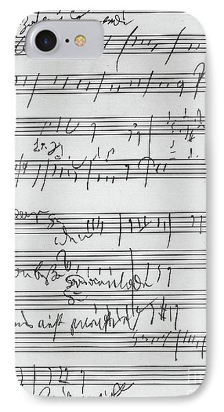 Handwritten Musical Score IPhone Case