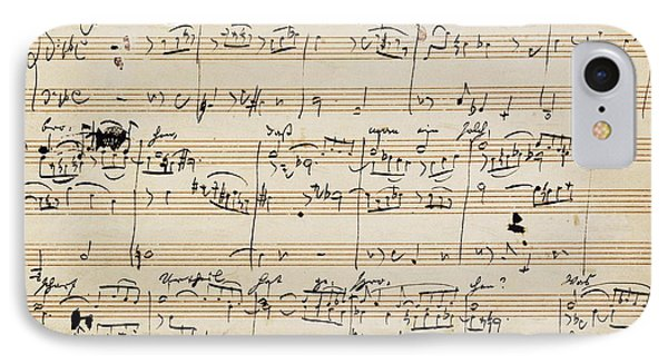 Handwritten Score For Herzliebster Jesu, Chorale Prelude Number 2 IPhone Case