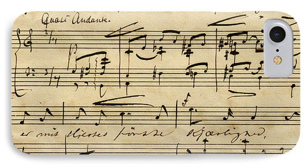 Handwritten Score For Hjertets Melodier, Opus 5 IPhone Case