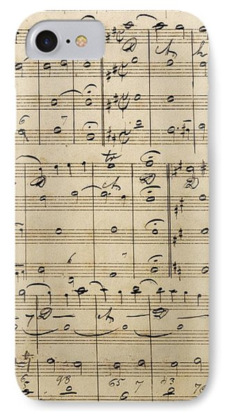 Handwritten Score IPhone Case