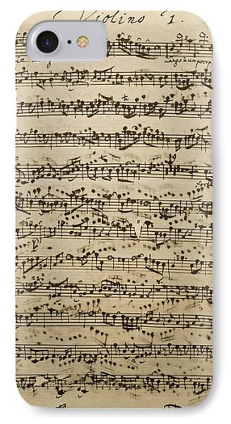 Handwritten Score For Mass In B Minor IPhone Case