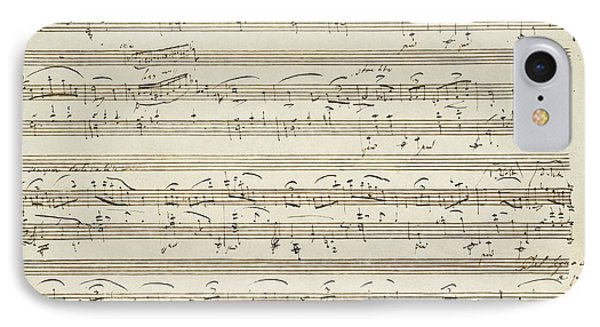 Handwritten Score For Waltz In Flat Major IPhone Case