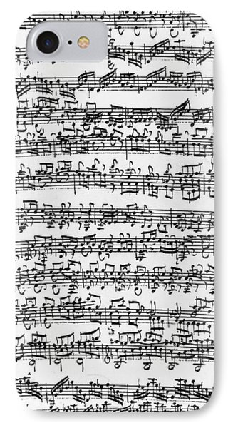 Handwritten Score Of Sonata No 1 For Solo Violin IPhone Case