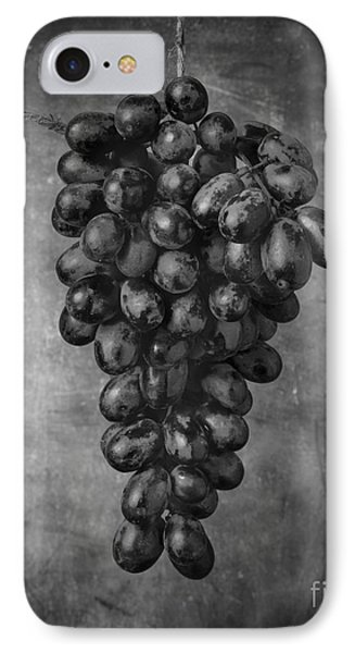 Hanging Grapes Still Life  IPhone Case by Edward Fielding