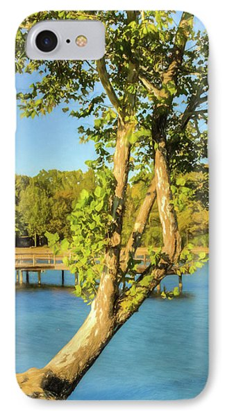Hanging On - Lakeside Landscape IPhone Case by Barry Jones