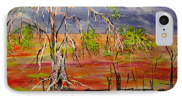 IPhone Case featuring the painting Hanging On by Lyn Olsen