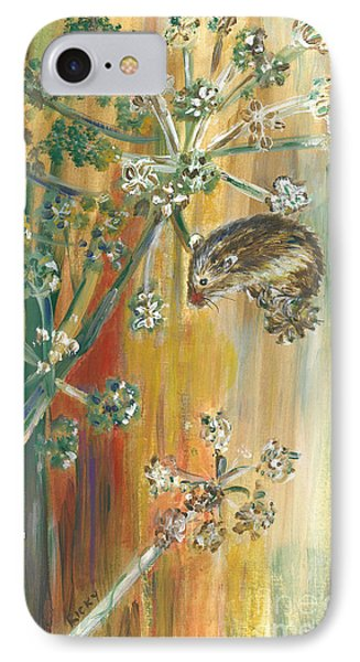 Hanging On - Painting IPhone Case by Veronica Rickard