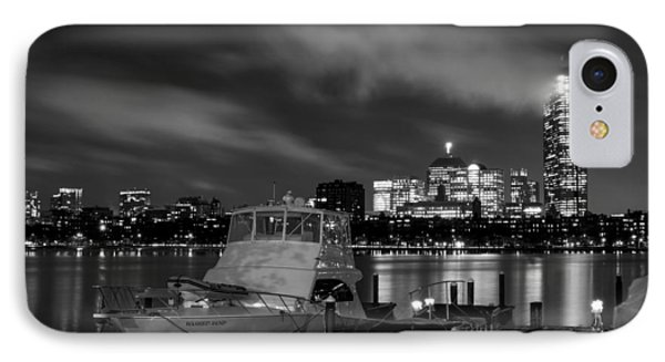 Hanging Onto A Cloud John Hancock Tower Boston Ma Black And White IPhone Case by Toby McGuire