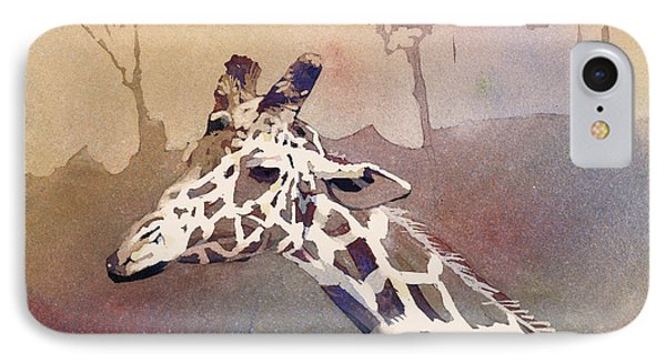 IPhone Case featuring the painting Hanging Out- Giraffe by Ryan Fox