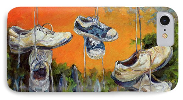 Hanging Tennis Shoes Phone Case by Jean Groberg