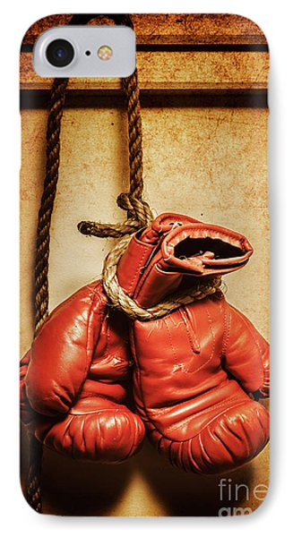 Hanging Up The Gloves IPhone Case by Jorgo Photography - Wall Art Gallery