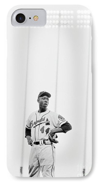 Hank Aaron On The Field, 1958 IPhone Case by The Harrington Collection