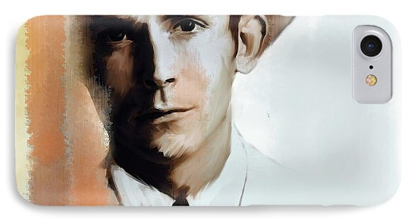 Hank Williams Faiths Fire IPhone Case by Iconic Images Art Gallery David Pucciarelli