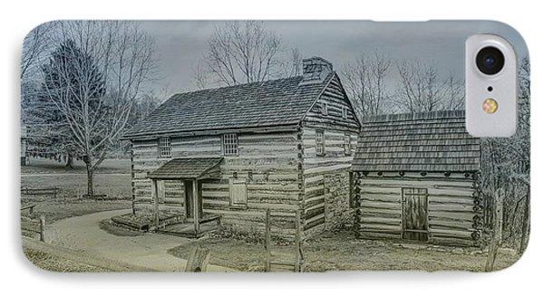 IPhone Case featuring the digital art Hannastown Log Cabin One by Randy Steele