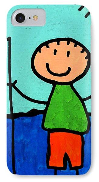 Happi Arte 2 - Boy Fish Art Phone Case by Sharon Cummings
