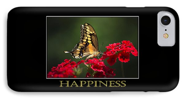 Happiness Inspirational Poster Art Phone Case by Christina Rollo