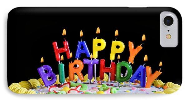 Happy Birthday Candles IPhone Case by Diane Diederich