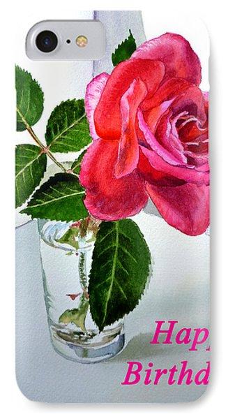 Happy Birthday Card Rose  IPhone 7 Case