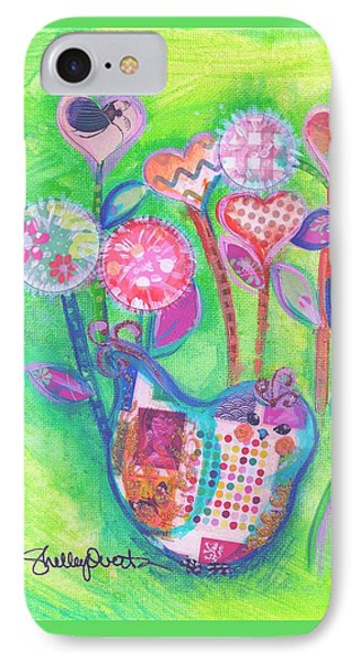 Happy Birthday Mindy Birdy IPhone Case by Shelley Overton