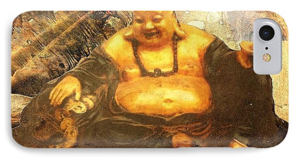 Happy Buddha IPhone Case by Fawn Waterfield