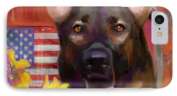 Happy Dog IPhone Case by Julianne Ososke