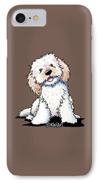 Happy Doodle Puppy IPhone Case by Kim Niles