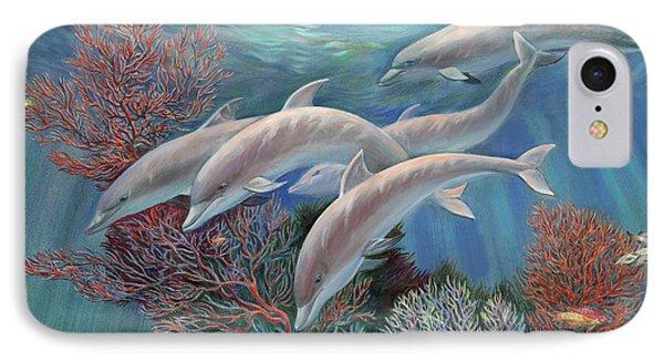 Happy Family - Dolphins Are Awesome Phone Case by Svitozar Nenyuk