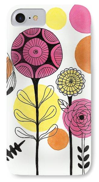 Happy Flowers IPhone Case by Lisa Noneman