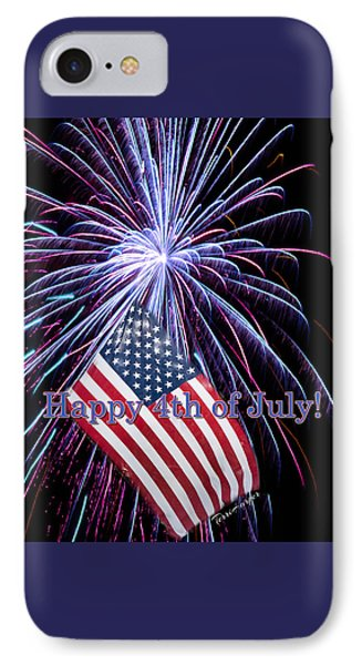 IPhone Case featuring the photograph Happy Fourth Of July by Terri Harper