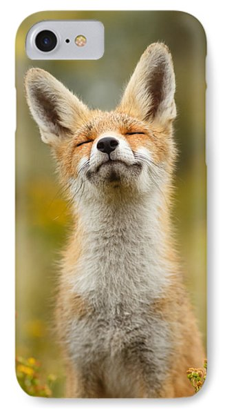 Happy Fox IPhone 7 Case by Roeselien Raimond