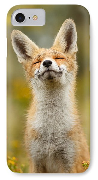 Happy Fox IPhone Case by Roeselien Raimond