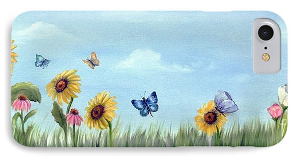 IPhone Case featuring the painting Happy Garden by Carol Sweetwood