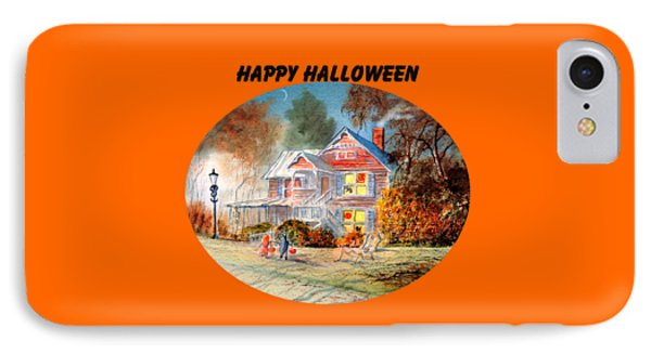 Happy Halloween IPhone Case by Bill Holkham
