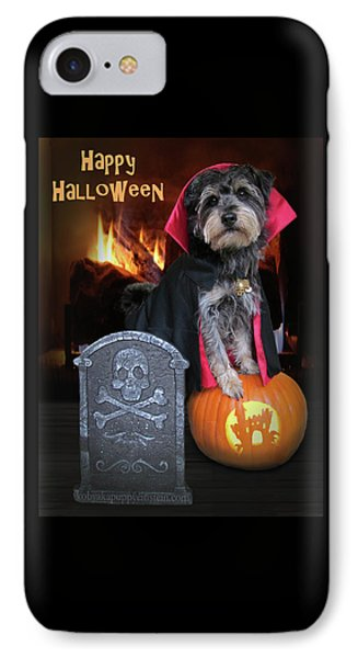 Halloween Vampire Dog IPhone Case by Kim Mobley