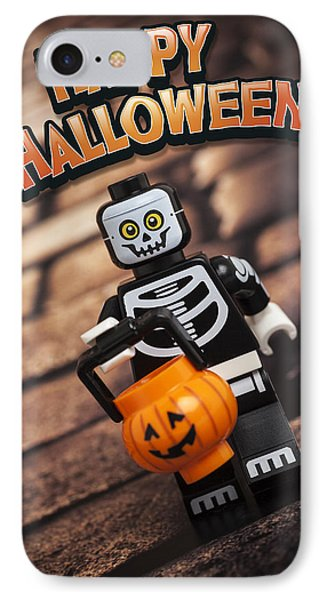 Happy Halloween IPhone Case by Samuel Whitton