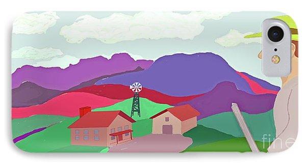 Happy Highland Farm Phone Case by Fred Jinkins