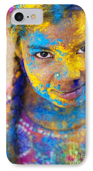Happy Holi IPhone Case by Tim Gainey