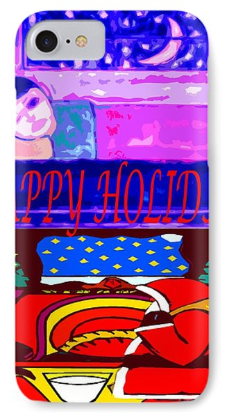 Happy Holidays 70 IPhone Case by Patrick J Murphy