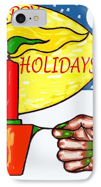 Happy Holidays 72 IPhone Case by Patrick J Murphy