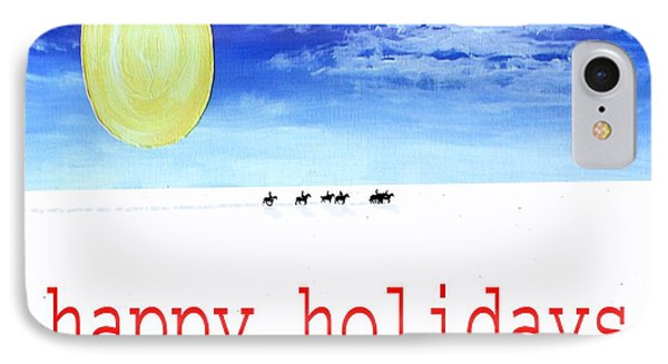 Happy Holidays 92 IPhone Case by Patrick J Murphy